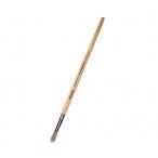 Кисть Mazari щетина №8 художественная, круглая, обойма обжимная, ручка деревянная
