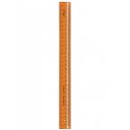 Линейка 30см Стамм Закройщика Cristal неон, оранжевая, пластиковая