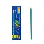 Карандаш Miraculous пластиковый зеленый корпус, заточенный, б/ластика