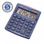 Калькулятор Citizen SDC-810NRNVE, 10 разряд., темно-синий, дв.питан.,127*105*21 мм, европодвес