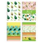 Записная книжка А6 BG  80л. спираль, тведая обложка I love avocado глянцевая ламинация