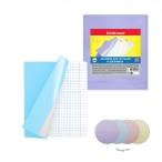 Набор обложек Erich Krause Fizzy Pastel  для тетрадей и дневников, 212х347мм, 100мкм, пластик, 12шт.