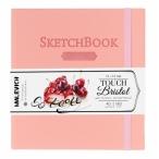 Скетчбук 14х14 Малевичъ Bristol Touch для графики и маркеров, 40л., 180 г/м2, розовый