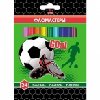 Фломастеры 24цв ХАТБЕР VK Football картон. короб., европодвес