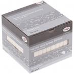 Мел белый Гамма 100шт., квадратный, мягкий, картон. упак., европодвес