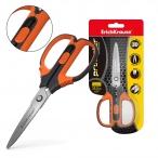 Ножницы erich krause protector lock 15,5см, с фиксатором, серо-оранжевые, европодвес