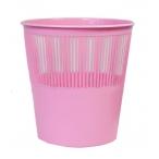 Корзина д/бумаг tukzar  12л., розовый цвет, пластик