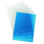 Обложка А4 прозрачные ,синие  пвх 0,18мм.