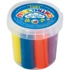 Тесто д/лепки Lori-toys Набор №1 в средней пластиковой банке с крышкой, 7 цв.