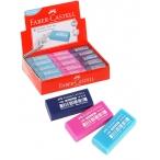 Ластик Faber Castell Dust Free прямоугольный, 11х18х41мм., ассорти (синий, розовый, бирюзовый)