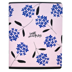 Тетрадь А5 48л. Be Smart Simple.Синие цветы клетка, микротекст., ламинация, скр.углы, 165х203