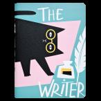 Тетрадь А5+ 48л. Be Smart Writer.Кот клетка, микротекстур., ламинация, скр.углы, 165x220