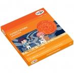 Пластилин 12цв. ГАММА Оранжевое солнце (6 классич., 6 с блестками), 168г, со стеком, картон,упак.
