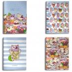 Тетрадь А5 48л. Lorex Coctail Kittens в точку, скрепка, двойная обл., мел.карт., soft touch лак